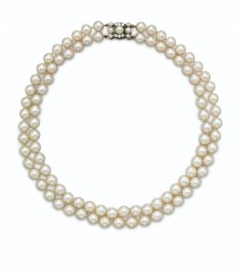 Lot 699 - Double Strand Cultured Pearl Necklace