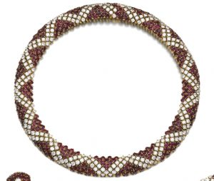 Lot 148 - Ruby and Diamond Necklace enlarged