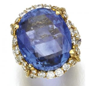 Lot 248 - Sapphire and Diamond Ring by Sabbadini