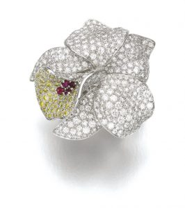 "Lot 198 - Gem Set and Diamond Ring, ""Caresse d'orchidées,"" Cartier, circa 2005"