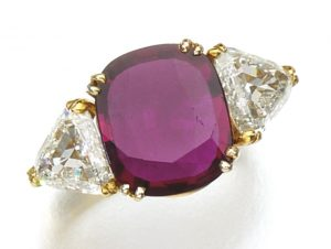 Lot 105 - Ruby and Diamond Ring