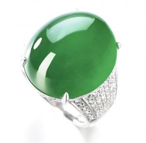Lot 1765 - Another view of the Important Jadeite and Diamond Ring