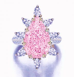 Lot 1794 - Very Fine Fancy Intense Purple-pink Diamond, and Diamond Ring