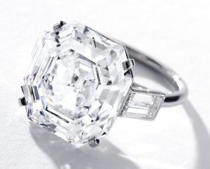 Lot 1707- Another View of the Very Fine Diamond Ring by Cartier