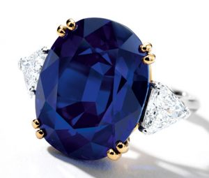 Lot 1799 - Pride of Kashmir Sapphire, an Exceptional and very rare Sapphire and Diamond Ring