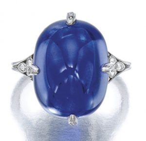 Lot 1795 -Exquisite and Very Fine Sapphire and Diamond Ring, Van Cleef & Arpels
