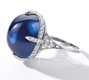 Lot 1795 - Another View of the Van Cleef & Arpels Sapphire and Diamond Ring