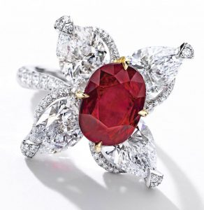 Lot 1797 - Important Ruby and Diamond Ring