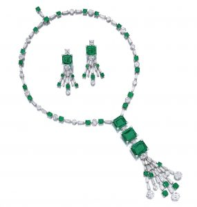 Lot 1709 - Important Emerald and Diamond Demiparure by Bulgari