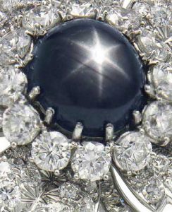 Lot 155 - Black Star Sapphire enlarged