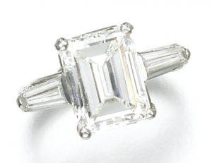 Lot 140 - Diamond Ring, set with a 4.66-carat, I-color, VVS2 clarity, step-cut diamond