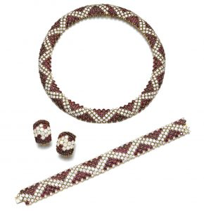 Lot 148 - Ruby and Diamond Parure