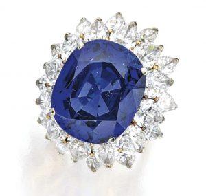 Lot 219 - Sapphire and diamond Ring, Bulgari