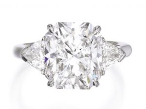 Lot 79 - Platinum and Diamond Ring, Tiffany & Co.