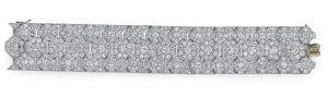 Lot 255 - An Art Deco Diamond Bracelet, by Cartier