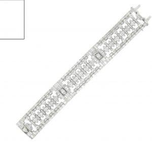 Lot 116 - An Art Deco Diamond Bracelet by J. E. Caldwell