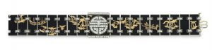 Lot 253 - Front side of Art Deco Enamel And Diamond Chinoiserie Bracelet, By Verger Freres