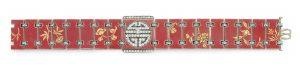 Lot 253 - Reverse side of Art Deco Enamel And Diamond Chinoiserie Bracelet, By Verger Freres