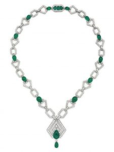 Lot 121 - An Emerald And Diamond Sautoir by David Webb