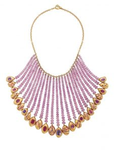 Lot 235 - A Colored Sapphire Necklace by Prince Dimitri
