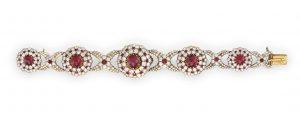 Lot 28 - A Star Ruby, Ruby And Diamond Watch Bracelet, By Vacheron & Constantin