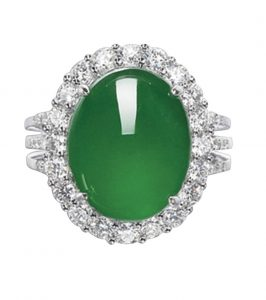 Lot 1666 - Jadeite and Diamond Ring