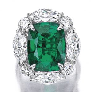 Lot 1759 - Fine Emerald and Diamond Ring