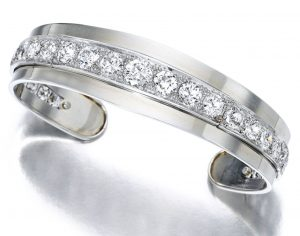Lot 1682 - Diamond Bangle, René Boivin, 1940s
