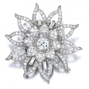 Lot 1770 - Diamond Brooch, Van Cleef & Arpels