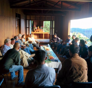 U.S. delegation in a meeting of gemstone miners representing the Mogok chapter of the Myanmar Jewellery and Gemstone Entrepreneurs Association (MGJEA).