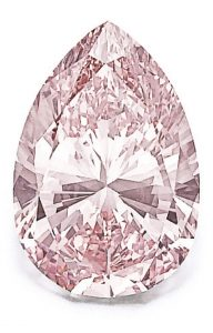 LOT 329 - MAGNIFICENT FANCY INTENSE PINK DIAMOND RING