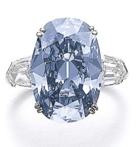 LOT 298A - MAGNIFICENT FANCY DEEP BLUE DIAMOND RING