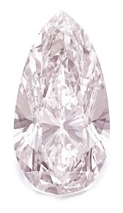 Lot 331 - AN IMPORTANT FANCY LIGHT PINK DIAMOND RING