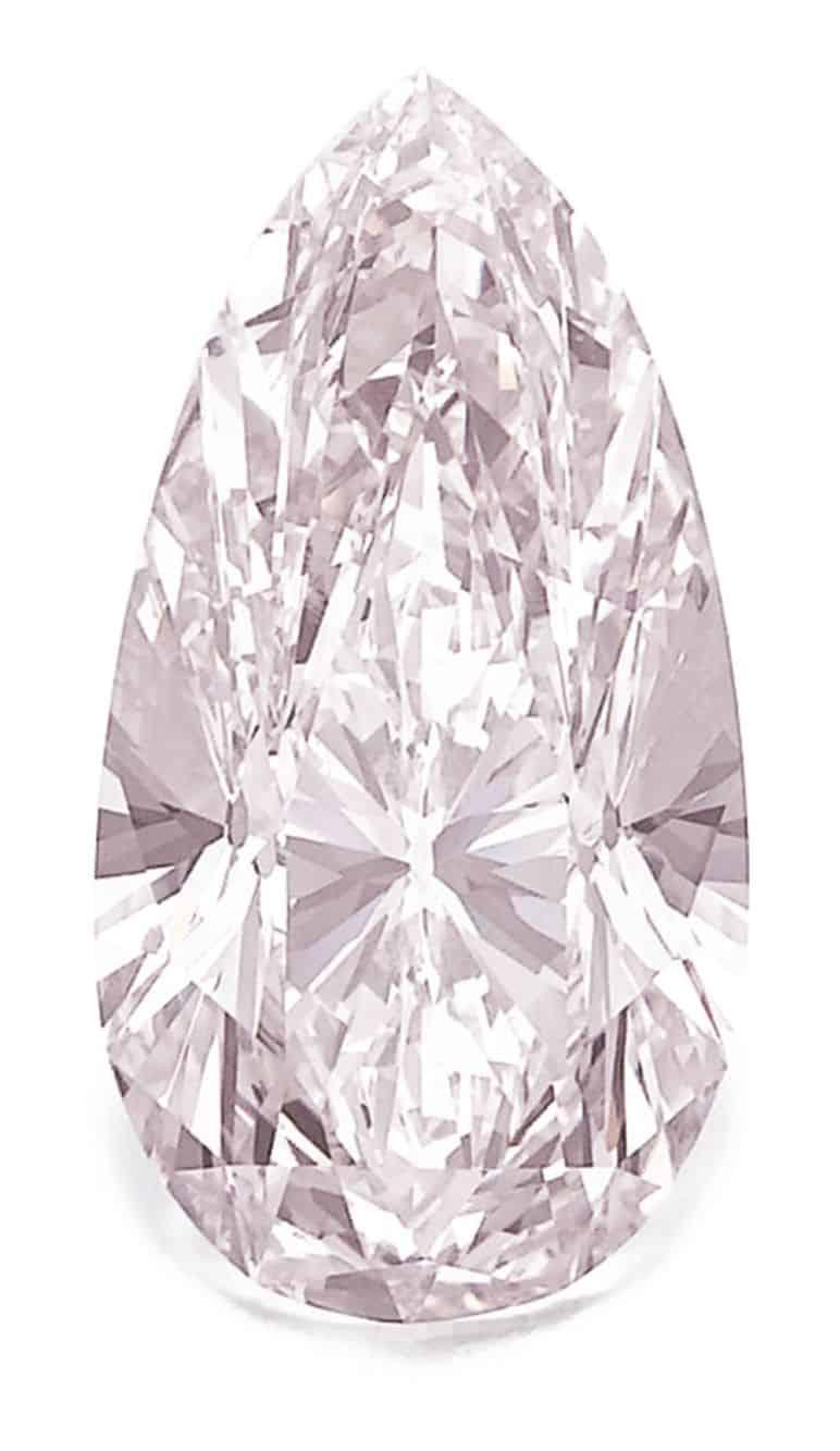 Lot 331 - AN IMPORTANT FANCY LIGHT PINK DIAMOND RING