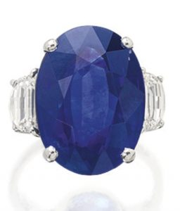 LOT 1789 -IMPORTANT SAPPHIRE AND DIAMOND RING, BULGARI