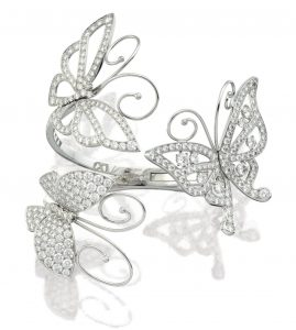 LOT 1793 - DIAMOND BANGLE, 'FLYING BUTTERFLY', VAN CLEEF & ARPELS
