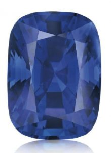 LOT 294 - TOP VIEW OF THE UNMOUNTED BURMA BLUE SAPPHIRE