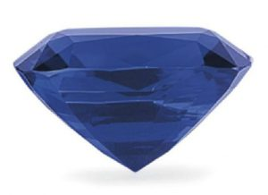 LOT 294 - SIDE VIEW OF THE UNMOUNTED BURMA BLUE SAPPHIRE