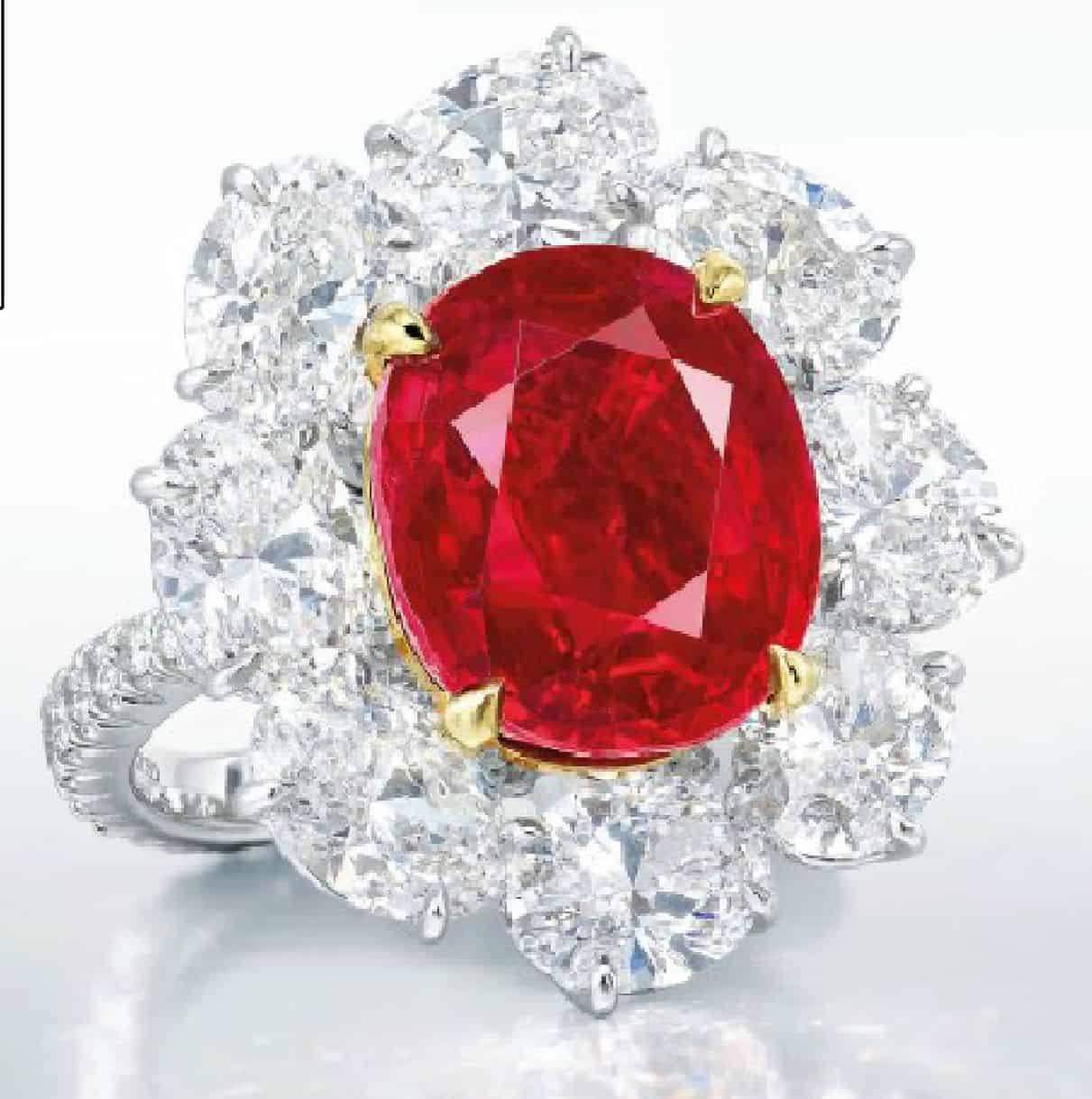 LOT 2087 - A SUPERB RUBY AND DIAMOND RING, BY FAIDEE