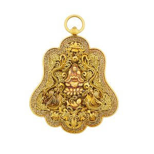 Lot 2115 Chinese Gold Filigree Pendant, 18th-19th C. Sold for: $13,750