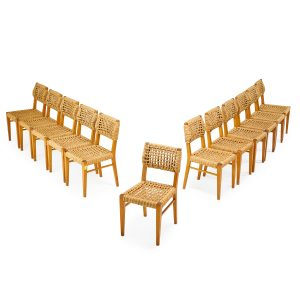 Lot 543 Audoux & Minet Vibo Vesoul Dining Chairs Sold for: $8,152