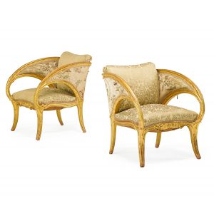 Lot 573 Joan Busquets  Pair of Armchairs Sold for: $21,250