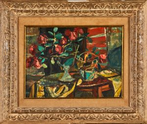 Lot 666 Sigmund Menkes Untitled Floral Still Life Sold for: $10,000
