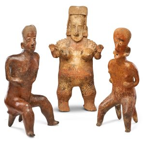 Lot 711 Pre-Columbian Style Terracotta Figures Sold for: $9,375