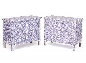 Lot 734 Anglo-Indian Pair of Chests of Drawers  Sold for: $2,750