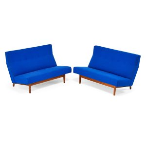 Lot 755 Jens Risom Pair of Armless Sofas Sold for: $4,063