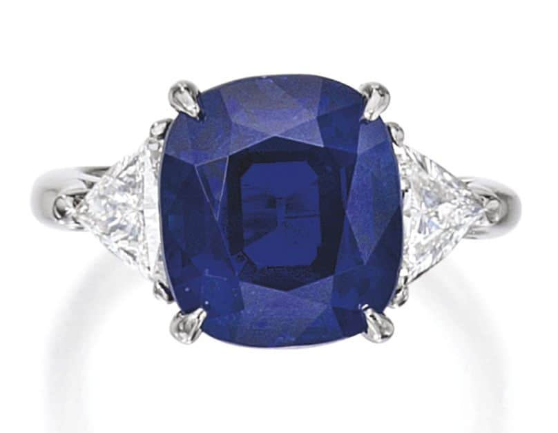 Lot 281 - Important Platinum, Sapphire and Diamond Ring, Tiffany & Co