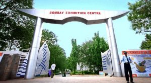 Entrance leading to the Bombay Exhibition Center