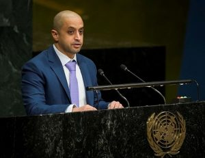 Ahmed bin Sulayem addressing the UN General Assembly