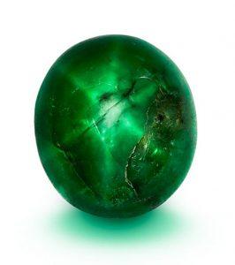 25.86-carat Marcial de Gomar double-sided cabochon star emerald